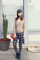 Louisa Liu - Lacoste Hat, Juicy Couture Sweater, Juicy Couture Pant, Vintage Earing - Bout to say Goodbye:)