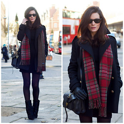 Hedvig ... - Iro Wool Dress, Zara New Coat, Ralph Lauren Scarf, Isabel Marant Boots, Proenza Schouler Bag - London from Norway