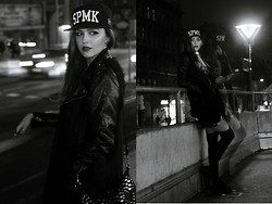 Jules PMS - Space Monkeys Snapback, Bershka Studded Bag, H&M Gunmetal Ring, Stradivarius Gunmetal Ring, Asos Dress With Bandana Print, Blue Rags Pleather Jacket, H&M Fake Fur Gilet, Primark Tights, Nike Air Jordans, Forever 21 Spike Necklace, H&M Simple Earrings - Late nights, no sleep..