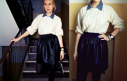 Joanna Ashplumplum - Jumper Second Hand, Shirt Tk Maxx, Skirt Allegro, Watch Tk Maxx, Shoes Deezee - Omonomnomnom