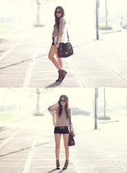 Cheyser Pedregosa - Charles & Keith Boots, Bag, Forever 21 Shorts - Hello, sunshine!