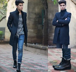 Ayoub Mani - Zara Coats, Zara Sweater, Cheap Monday Jeans, Zara Boots - YOU GIVE IT ALL BUT IWANT MORE