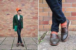 Edward Poon - Hare Toque, Zara Blazer, Zara Check Vest, Zara Check Trousers, H&M Stripped Socks - A SLOW DAYS