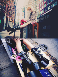 Rachel Lynch - Dyi Floral Crown, Theory Leopard Faux Fur Coat, Demonia Tourment Boots - We don't see stars in the city