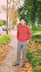 Jeff Me - H&M Sweater, Banana Republic Wool Pants, Dr. Martens Brogue Shoes - Autumn Hues
