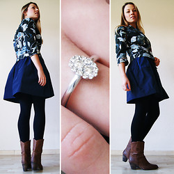 Marloes Spaargaren - Vanilia Flower Jacket, Vanilia Rainskirt, Manfield Boots - Shine bright like a diamond