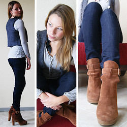 Marloes Spaargaren - Moscow Chillet, Levi's® Curve Id, H&M High Heels - Last time long hair