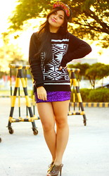 Christine Liwag - Topman Sweater, Forever 21 Skirt, American Boulevard Cap - Cadged