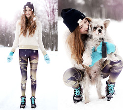 Ebba Zingmark - Lovelysally Tights, Lebunnybleu Boots, Romwe Sweater, Glassboutique Hat, Knitted By My Granny Knitt, My Dog Charlie - I'm not supposed to know