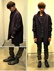Ushi Sato - United Colors Of Benetton Pea Coat, United Colors Of Benetton Shirt, Rick Owens Jeans, Rick Owens Shoes - TOTAL RECALL