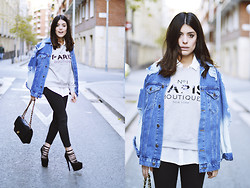 Aida Domenech Aida D - Asos Jacket, Mango Sweater, Zara Blouse, Topshop Pants, River Island Shoes, Chanel Bag - Sweater Nº1