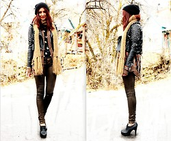 Megan S - Jacket, Kill City Pants, Vintage Blouse, Vintage Sweater - X Kill City Giveaway on the Blog X