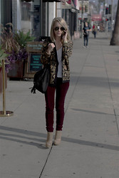 Jessica Snyder - J Brand Velvet Skinnies, Steve Madden Fringe Bag - Welcome to the Jungle.