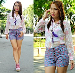 Julie Lozada - Next Jeans Short, Girlshoppe Necklace, Parade Of Shoes, Luise Top - The Beauty of Spring