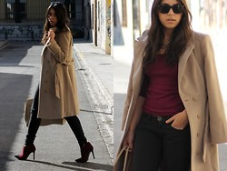 Laura Montilla - Primark Coat, Primark Booties - Think-able