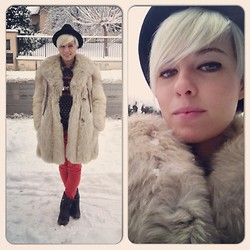 Marta Chic - Vintage Winter Fox Fur, Kammi Leather Boots - Yeti Woman 2nd edition / Back to the 80s