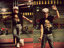 Aris Theo Rivera - Kamimura Japan T Shirt, Bossini Military Cap, 5cm Belt, Mango Jeans, Traffic Boots, From Subic Bracelets - Take Me Out Of The Dark