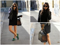 Laura Montilla - Pimkie Jacket, Zara Dress, H&M Gloves, Zara Bag - Compatible