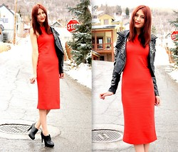 Megan S - Dress, Jacket - Red Hot