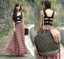 Kryz Uy - Runway Dreams Skirt, Louis Vuitton Bag, Giftsahoy Boots - Geometric Eccentric
