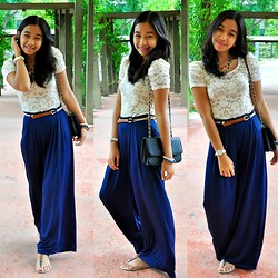 Geraleen Nicole Gaytano - Forever 21 Top, Sm Gtw Palazzo Pants, Payless Sandals, Charles And Keith Bag - Palazzo at Piazza