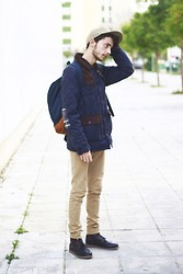 Piter P. - Your Turn Coat, William Fox & Sons Backpack, New Era Cap - More quilted