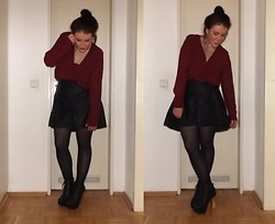 Amy M - Blouse, Skirt, Boots - Holding too tight just to feel alright tonight