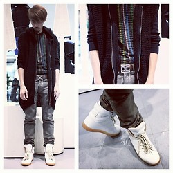 Ushi Sato - United Colors Of Benetton Knitwear, Etro Jumper, Dolce & Gabbana Belt, Rick Owens Jeans, H&M Shoes - CHRONICLED
