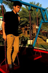 Laurence Villlaruel - Black Polo Shirt, Khaki Pants, Swatch Seasider - Swing Swing