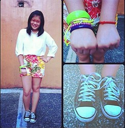 Raffi Alcantara - Landmark Floral Shorts, Converse Sneakers, H&M Yellow Braided Bracelet - Summer in December