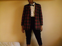 Fowzia M - Gap Shirt, Charity Shop Blazer - Checked Out