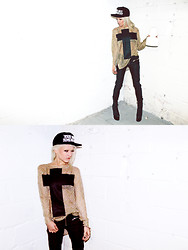 Rachel Lynch - Unif Your Shit Bums Me Out Hat, Unif Cross Sweater, Unif Iggy Pants - YOUR SHIT BUMS ME OUT