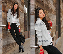 Annabelle Fleur - True Religion Sweater, Bcbg Gloves, Zara Boots, Milly Ny Bag, True Religion Pants - Amour Et Joie
