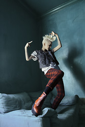 Page Ruth - Isabel Marant Plaid Pants, Hellz Bellz The Brawl Stomp Lace Tie Up Boot - ♠here comes Darby...♠