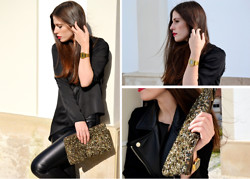 "Filipa Gameiro - Zara Clutch, H&M Shirt, Zara Pants - ""Merry Christmas"""