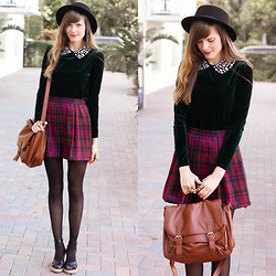 Steffy Degreff - Tea And Tulips Plaid Skirt, Romwe Blouse - Merry christmas, lookbook.nu ❤❤