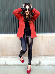 Gina Y - Anthropologie Sweater, Forever 21 Shirt, American Apparel Leggings, Aldo Heels - Christmas Time!!