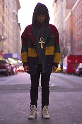 Astro Ford - Vintage Jacket, Topman Shirt, H&M Jeans, Adidas Old Shoes, Ankh - Cool Coat