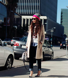 Hallie S. - Jimmy Choo Pumps, H&M Coat, Forever 21 Beanie - Silver Mirror