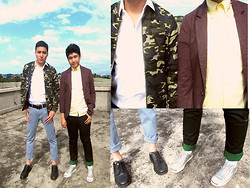 Justin Nalangan - Mundo Jcket, Justin Nalangan Polo With Studded Collar, Forever 21 Blazer - Sugar and Spice