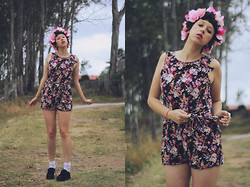 Kalindy W - Flower Crown, Target Discount Kids Playsuit, Internet Creepers - They call me The Wild Rose