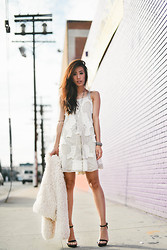 Jenny Ong - Free People Beaded Dress, Pacsun Faux Fur Coat - Merry (late) christmas!