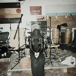 Olivia Sun - H&M Long Dress, Ovs Industry Black Creepy Hat, World Drum - Atelier. (where is my microphone?).