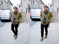 Giuseppe Guevara - Zara Army Green Jacket, Camouflage Long Sleeves - I'll be on your mind sooner or later...