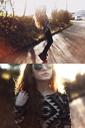 Jessica Christ - Madame Rage Aztec Knit, Zerouv Vintage Sunglasses, H&M Platform Sneakers - Dance in the sun
