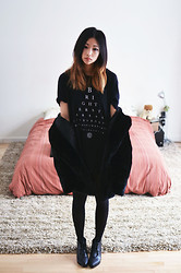 Alyssa Lau - The Orphan's Arms Mens T Shirt, Choies Faux Fur Jacket, Choies Ankle Boots - Brighter stars are underground