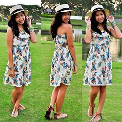 Geraleen Nicole Gaytano - Landmark Hat, Forever 21 Dress, Payless Sandals - Flower in the Green