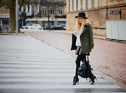 Adenorah M - Sheinside Coat, Romwe Sweater, Asos Boots - Adenorah - Metal touch