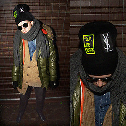 Sebastian Hubert - Ray Ban Glasses, Massimo Dutti Scarf, H&M Sweater, H&M Shirt, Madeinhouse Beanie, H&M Gloves, Levi's® Pants, Dr. Martens Shoes - YOUR LIFE SUCKS