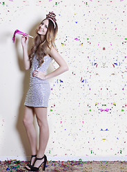 Madeline Becker - As U Wish Sparkle Dress, Mrkt Black Heels - Happy New Year, Lookbook!